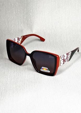 Очки солнцезащитные dr 2049 женские черно-красные с поляризацией.