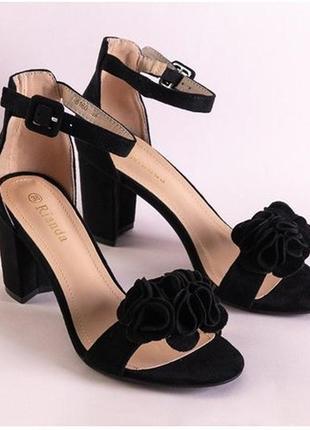Элегантные босоножки на высоком каблуке 3 цвета