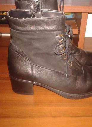Кожаные ботинки,италия,внутри мех