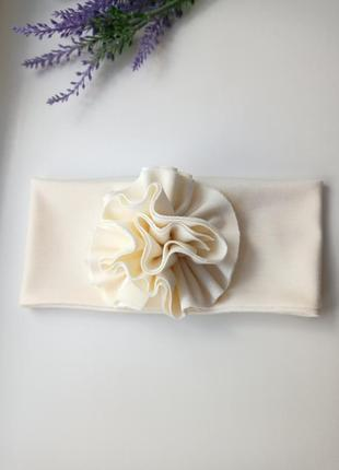 Повязка с цветком на девочку повязка тюрбан трикотаж