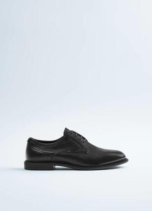 100% кожа мужские туфли zara 42 zara чоловічі туфлі 42