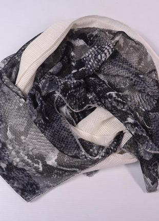 Комбинированный шарф-хомут