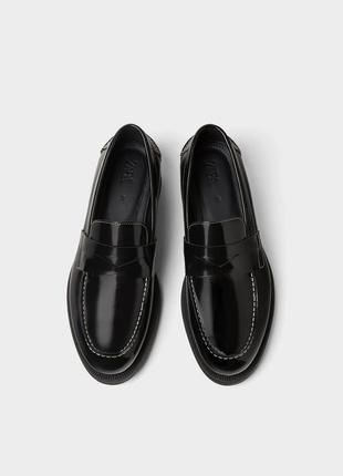 100% кожа мужские туфли zara 40 чоловічі туфлі zara 40 мужские мокасины zara 40