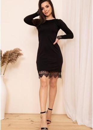 Облегающее мини платье с кружевом