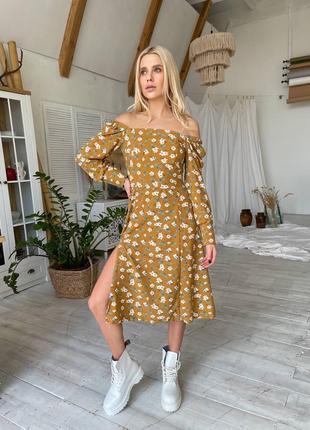 Платье с цветочным принтом {все расцветки}