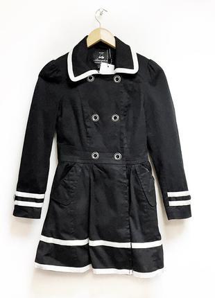 Черное пальто atmosphere uk 8