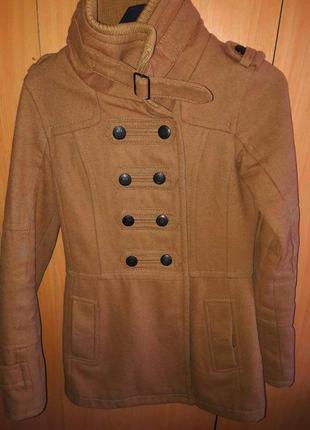 Крутое пальто bershka, размер м!