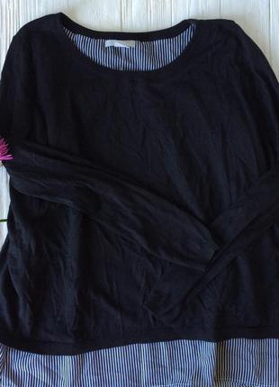 Джемпер гольф свитшот полосатый в полоску
