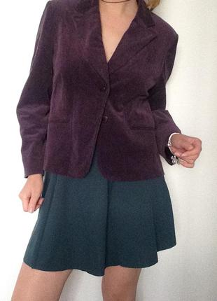 Приятный вельветовый пиджак фиолетовейшей etam