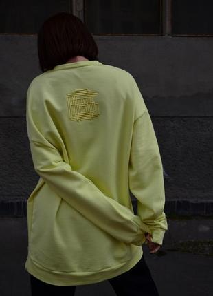 Лимонный свитшот платье