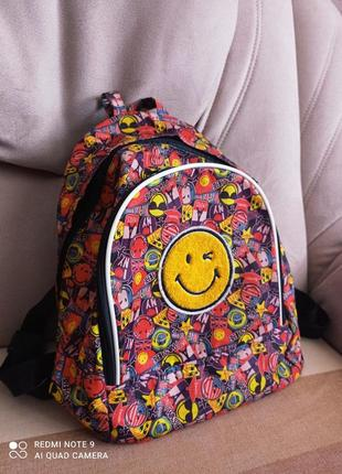 Яркий стильный текстильный рюкзак