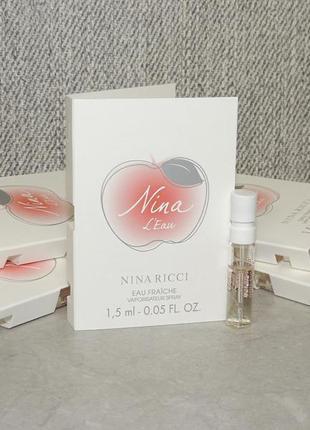 Nina ricci nina l'eau пробник для женщин оригинал