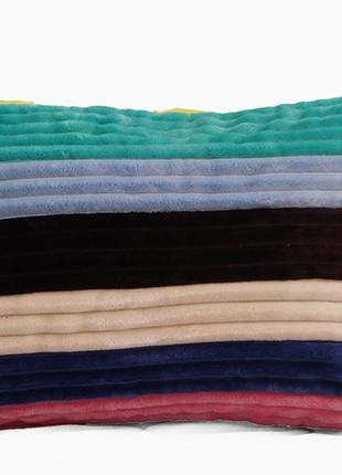 Наволочка декоративная на молнии 40×60см велсофт, подушка