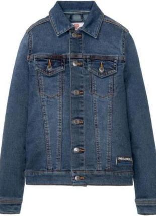 Джинсовый пиджак куртка на подростка 164см