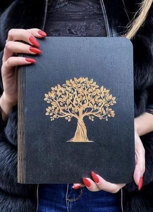 Блокнот из натурального дерева