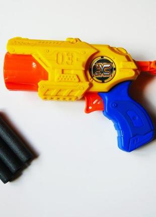 X-shot скорострельный бластер excel 3 barrel shooter x-shot
