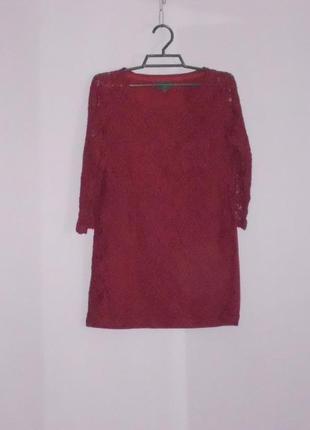 Бордовая блузочка 6 размера  next
