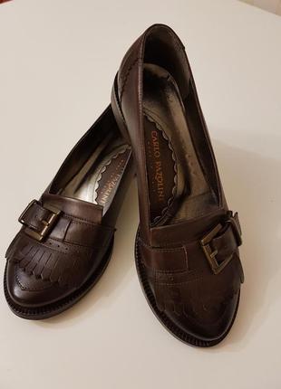 Туфли лоферы карло пазолини из натуральной кожи