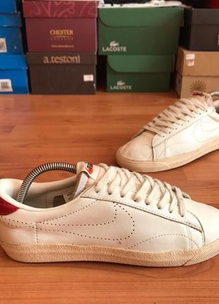Стильные кожаные белые кеды nike tennis classic 39рр