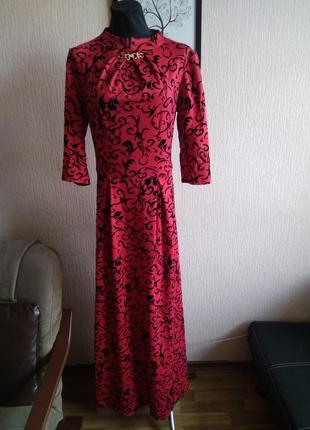 Платье 👗 в пол красное
