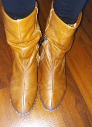Натуральная кожа, ботинки, сапожки из натуральной кожи на зиму