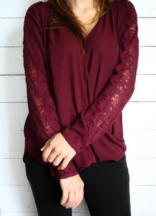 Блуза цвета марсала