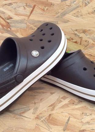 Новые женские кроксы сабо crocs crocband espresso размеры m6w8 и m7w9