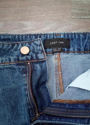 Джинсовая юбка с необработанным краем3 фото