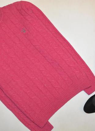 Шерстяной свитер, свитер в косы  gant
