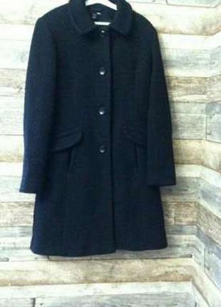 Пальто чёрное h&m, 40 размер, 10, m