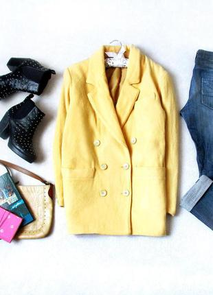 Пальто-бойфренд  от c&a желтого цвета, размер 10(38), см. замеры