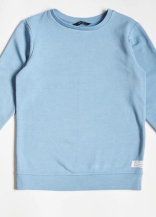 Голубой свитшот реглан george на мальчика 8-9 лет