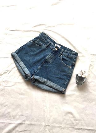 Шорты джинсовые с завышенной талией на высокой посадке 💜