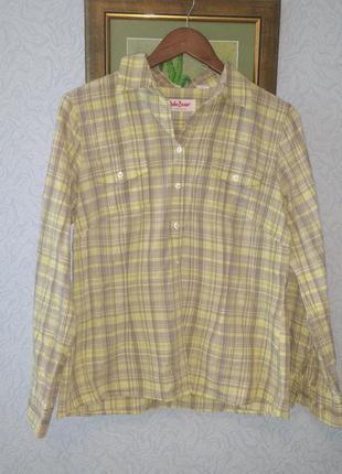 Рубашка в клетку с длинным рукавом бренд john baner
