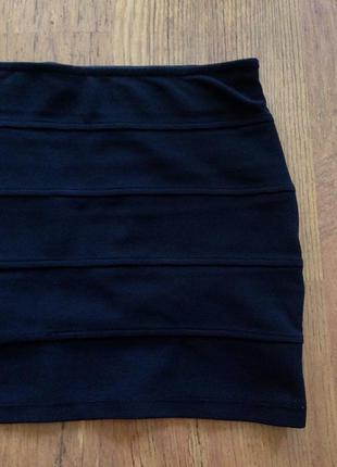 Чёрная юбка резинка oodji
