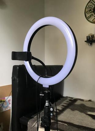 Кольцевая led лампа 26 см без штатива, кільцева лампа