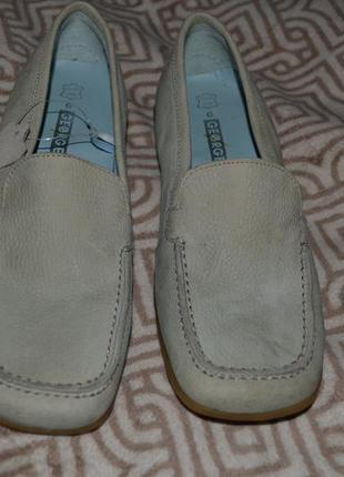 Новые женские деми туфли george кожа! 25 см стелька англия