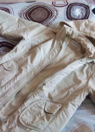 Куртка молочного цвета весна осень