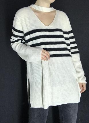 Весенний свитер длинный