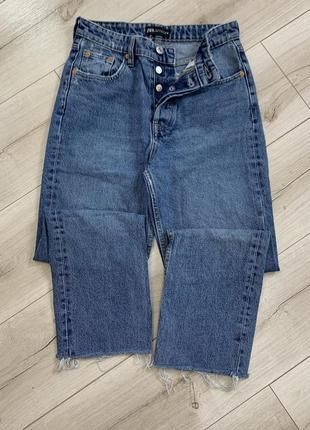 Топовые джинсы zara свежая коллекция высокая посадка