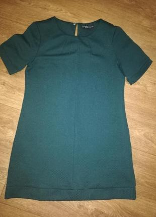 Платье сарафан туника зелёное короткий рукав  хакки короткое dorothy perkins
