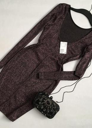 Новое изысканное платье по фигуре с приоткрытой спиной h&m