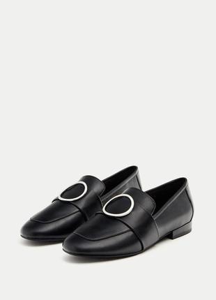 Туфли лоферы шикарные pull&bear , р 38
