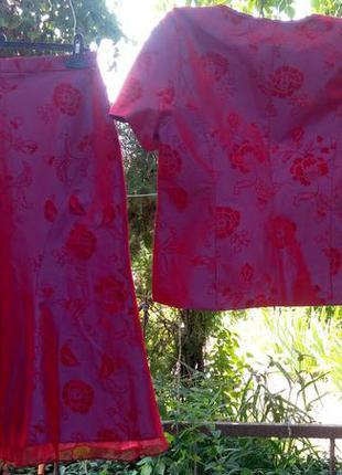 Женский костюм комплект нарядный переливающийся