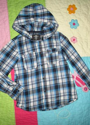 Стильная фирменная рубашка h&m мальчику 6-7 лет, рост 122
