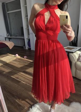 Плаття червоне вечірнє nothing but love xs