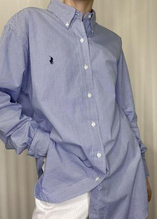 Крутая базовая хлопковая рубашка от ralph lauren