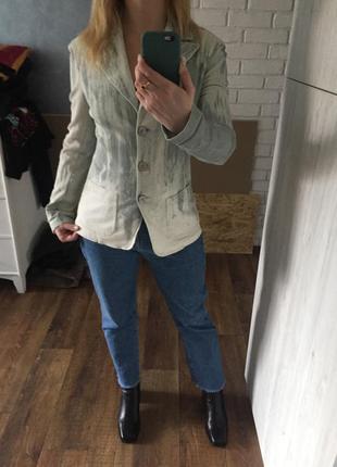 Крутой джинсовый жакет