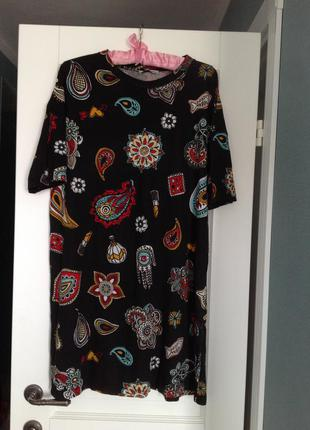 Zara платье туника свободного кроя, размер с, подойдёт и на л