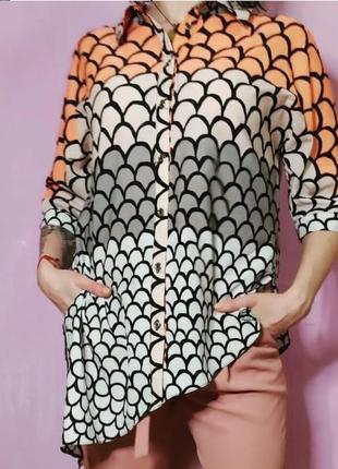 Рубашка блуза с принтом river island